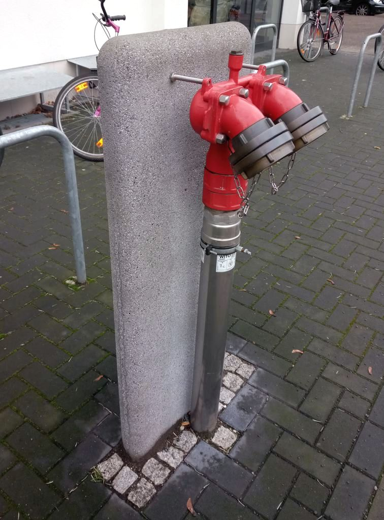 Extinguishing water connection. Berlin, 2021